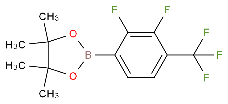 2-[2,3-difluoro-4-(trifluoromethyl)phenyl]-4,4,5,5-tetramethyl-1,3,2-dioxaborolane_分子结构_CAS_881402-15-9