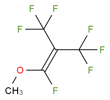 1,3,3,3-tetrafluoro-1-methoxy-2-(trifluoromethyl)prop-1-ene_分子结构_CAS_360-53-2