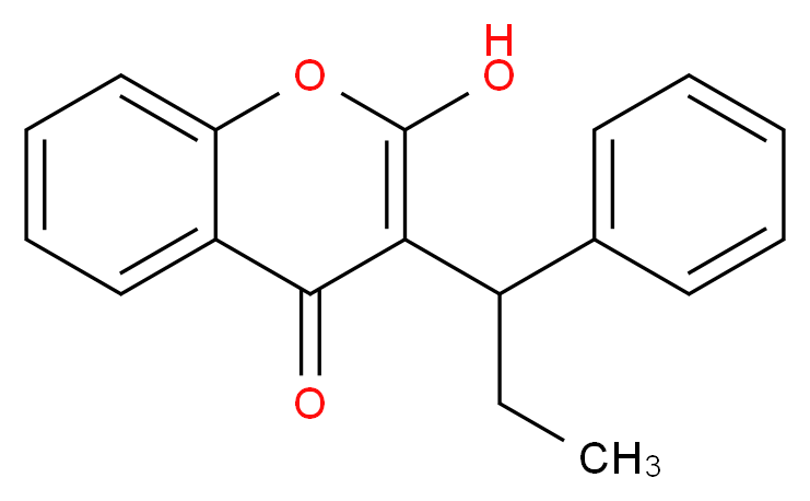 2-hydroxy-3-(1-phenylpropyl)-4H-chromen-4-one_分子结构_CAS_435-97-2