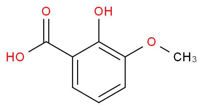 2-hydroxy-3-methoxybenzoic acid_分子结构_CAS_877-22-5