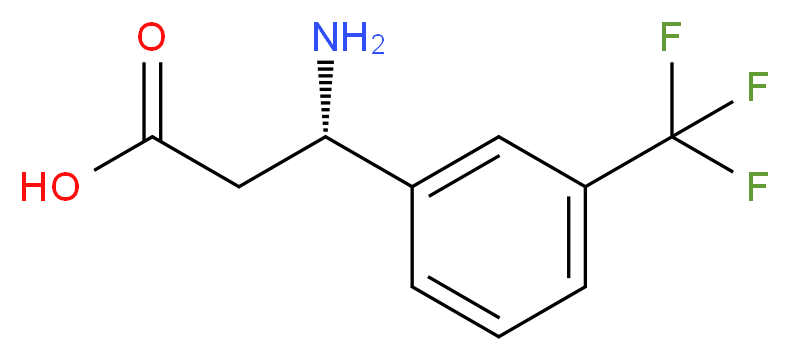 (S)-3-AMINO-3-(3-TRIFLUOROMETHYL-PHENYL)-PROPIONIC ACID_分子结构_CAS_719995-40-1)