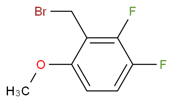 2-(bromomethyl)-3,4-difluoro-1-methoxybenzene_分子结构_CAS_886501-83-3
