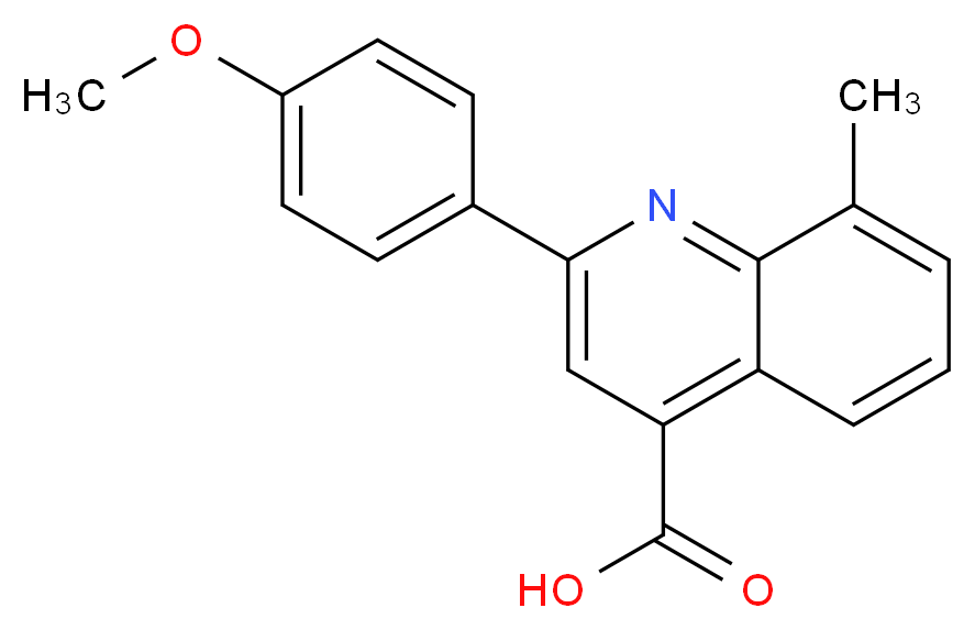 2-(4-methoxyphenyl)-8-methylquinoline-4-carboxylic acid_分子结构_CAS_107027-47-4