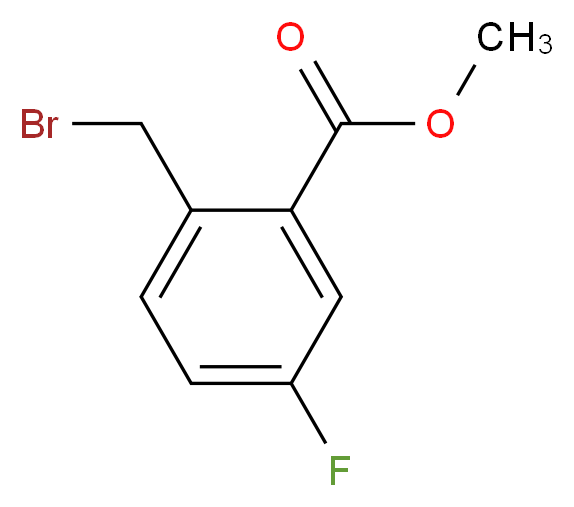 methyl 2-(bromomethyl)-5-fluorobenzoate_分子结构_CAS_138786-65-9