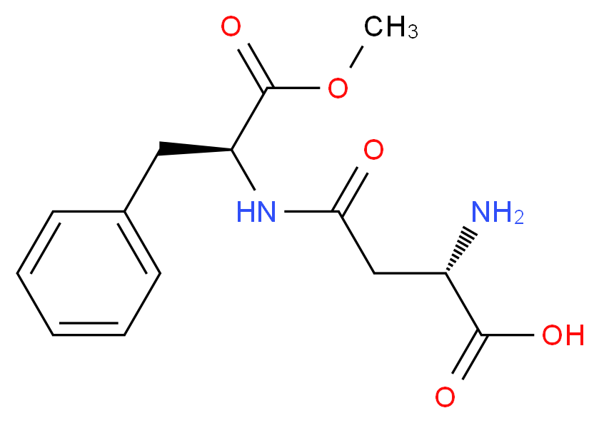 (2S)-2-amino-3-{[(2S)-1-methoxy-1-oxo-3-phenylpropan-2-yl]carbamoyl}propanoic acid_分子结构_CAS_22839-61-8