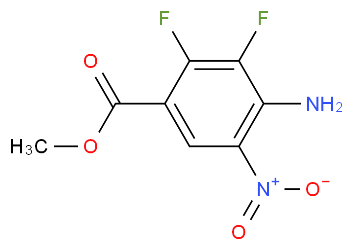 methyl 4-amino-2,3-difluoro-5-nitrobenzoate_分子结构_CAS_284030-58-6