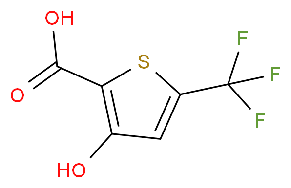 3-hydroxy-5-(trifluoromethyl)thiophene-2-carboxylic acid_分子结构_CAS_217959-85-8