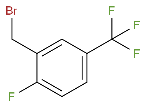 2-(bromomethyl)-1-fluoro-4-(trifluoromethyl)benzene_分子结构_CAS_220239-69-0