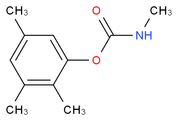 2,3,5-trimethylphenyl N-methylcarbamate_分子结构_CAS_2655-15-4