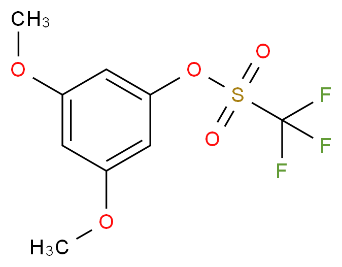 3,5-dimethoxyphenyl trifluoromethanesulfonate_分子结构_CAS_60319-09-7