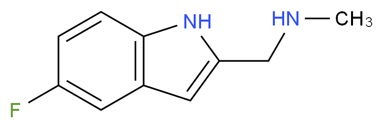 1-(5-fluoro-1H-indol-2-yl)-N-methylmethanamine_分子结构_CAS_883531-12-2)