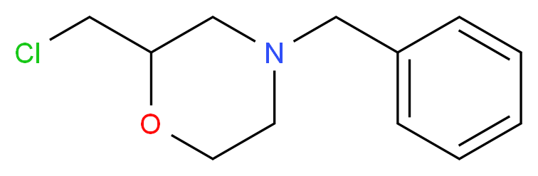 4-Benzyl-2-chloromethyl-morpholine_分子结构_CAS_40987-25-5)
