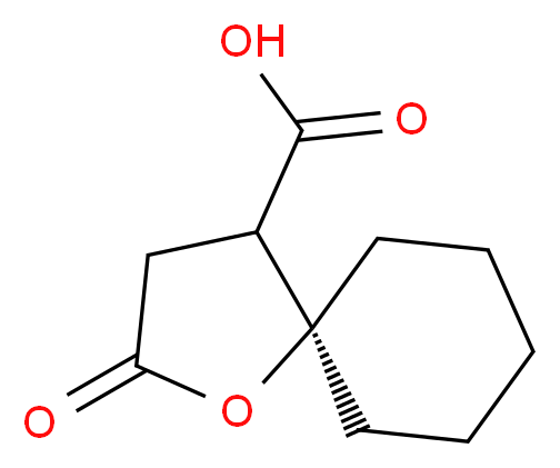 2-oxo-1-oxaspiro[4.5]decane-4-carboxylic acid_分子结构_CAS_2819-56-9