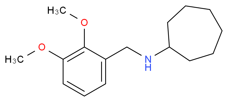 N-[(2,3-dimethoxyphenyl)methyl]cycloheptanamine_分子结构_CAS_416869-65-3