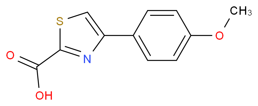 4-(4-methoxyphenyl)-1,3-thiazole-2-carboxylic acid_分子结构_CAS_123971-42-6