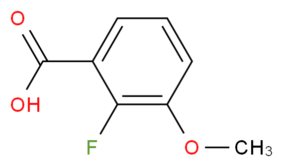 2-fluoro-3-methoxybenzoic acid_分子结构_CAS_137654-20-7