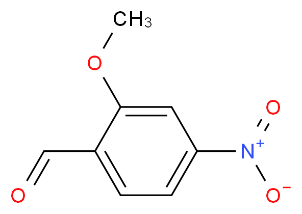 2-methoxy-4-nitrobenzaldehyde_分子结构_CAS_136507-15-8