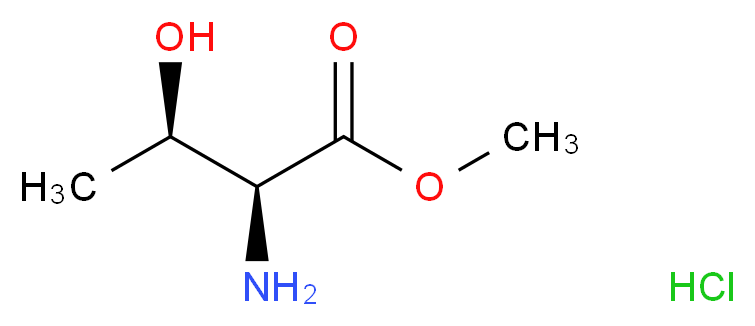 Methyl L-threoninate hydrochloride_分子结构_CAS_39994-75-7)