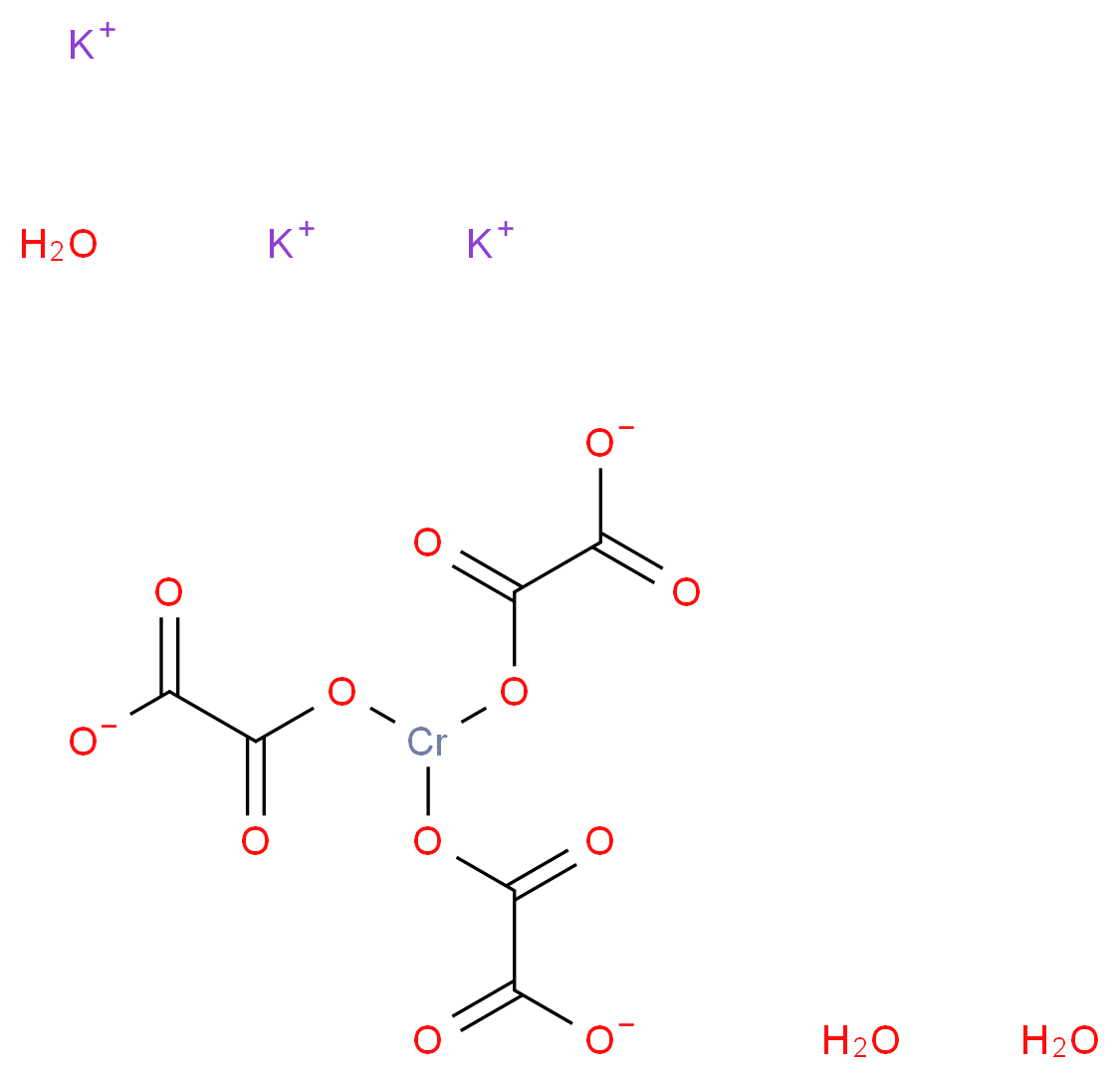草酸铬钾 三水合物_分子结构_cas_15275-09-9)