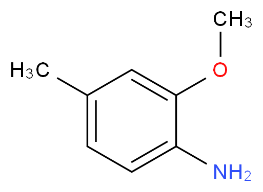 2-methoxy-4-methylaniline_分子结构_CAS_39538-68-6