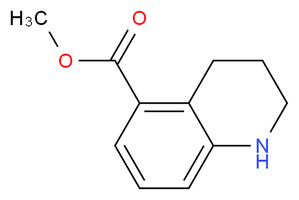 methyl 1,2,3,4-tetrahydroquinoline-5-carboxylate_分子结构_CAS_939758-71-1