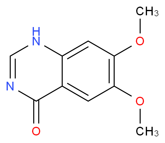 6,7-dimethoxy-1,4-dihydroquinazolin-4-one_分子结构_CAS_13794-72-4