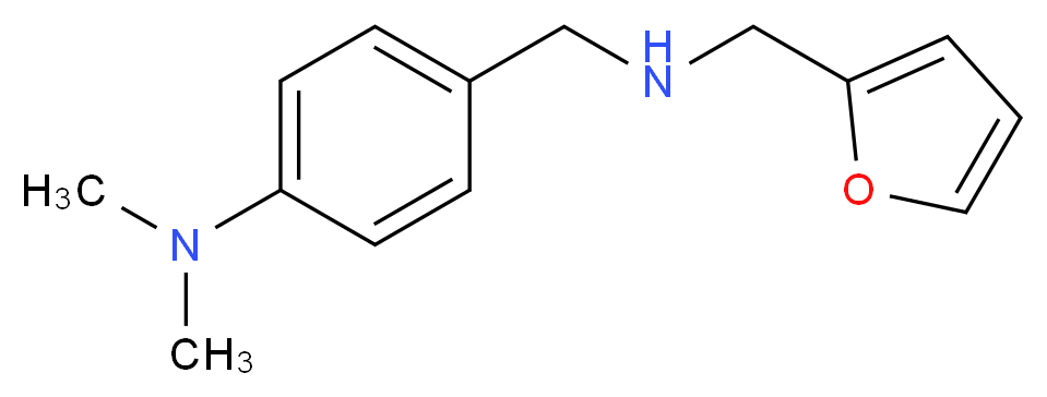 4-{[(furan-2-ylmethyl)amino]methyl}-N,N-dimethylaniline_分子结构_CAS_289490-62-6