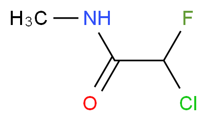 2-chloro-2-fluoro-N-methylacetamide_分子结构_CAS_53441-15-9