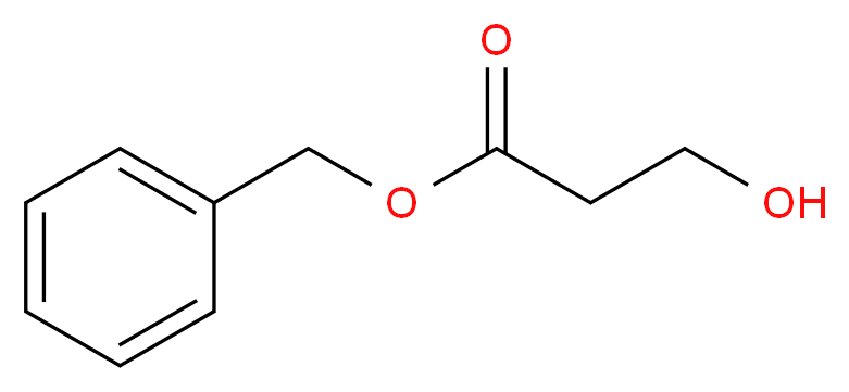 benzyl 3-hydroxypropanoate_分子结构_CAS_14464-10-9