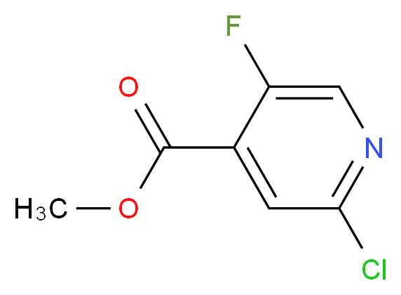 methyl 2-chloro-5-fluoropyridine-4-carboxylate_分子结构_CAS_876919-10-7
