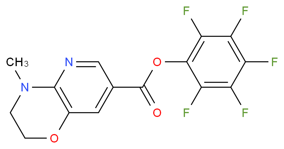 pentafluorophenyl 4-methyl-2H,3H,4H-pyrido[3,2-b][1,4]oxazine-7-carboxylate_分子结构_CAS_921938-83-2