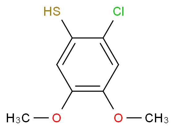 2-chloro-4,5-dimethoxybenzene-1-thiol_分子结构_CAS_)