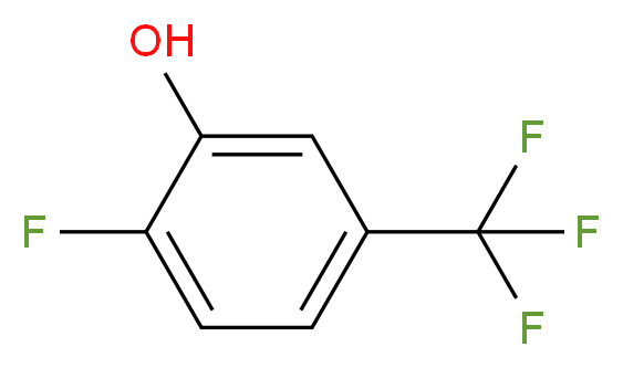 2-fluoro-5-(trifluoromethyl)phenol_分子结构_CAS_141483-15-0