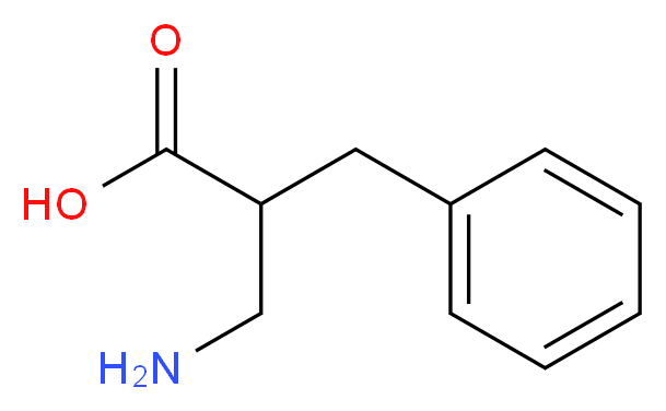 3-amino-2-benzylpropanoic acid_分子结构_CAS_95598-13-3