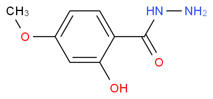 2-Hydroxy-4-methoxybenzenecarbohydrazide_分子结构_CAS_41697-08-9)