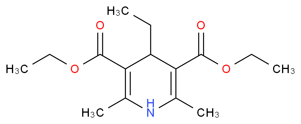 3,5-diethyl 4-ethyl-2,6-dimethyl-1,4-dihydropyridine-3,5-dicarboxylate_分子结构_CAS_1153-66-8