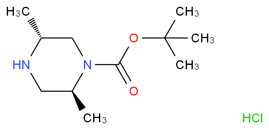 tert-butyl (2S,5R)-2,5-dimethylpiperazine-1-carboxylate hydrochloride_分子结构_CAS_1374975-96-8