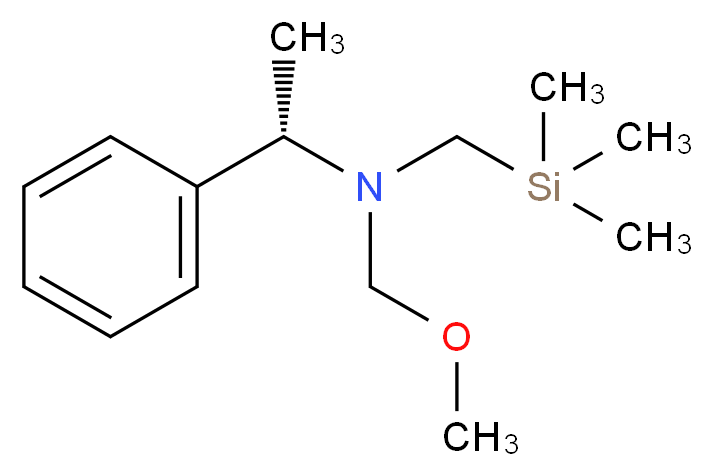 (methoxymethyl)[(1S)-1-phenylethyl][(trimethylsilyl)methyl]amine_分子结构_CAS_133407-38-2