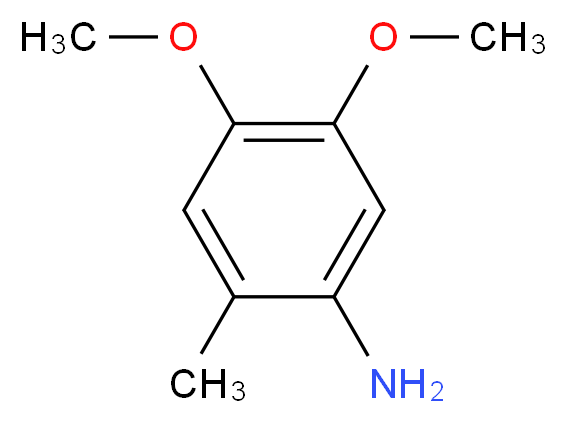 4,5-dimethoxy-2-methylaniline_分子结构_CAS_41864-45-3