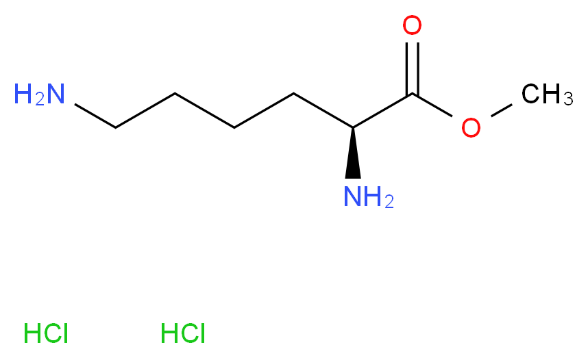 methyl (2S)-2,6-diaminohexanoate dihydrochloride_分子结构_CAS_26348-70-9