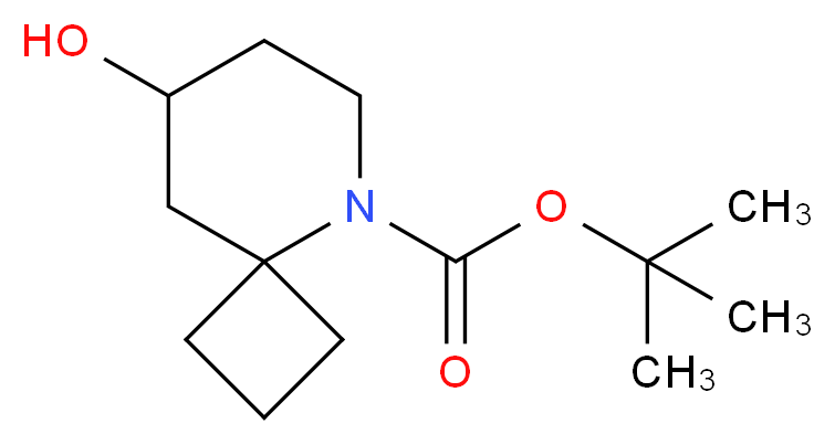 tert-butyl 8-hydroxy-5-azaspiro[3.5]nonane-5-carboxylate_分子结构_CAS_)