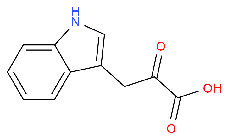 3-(1H-indol-3-yl)-2-oxopropanoic acid_分子结构_CAS_392-12-1