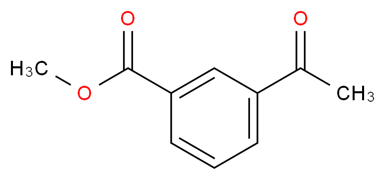 methyl 3-acetylbenzoate_分子结构_CAS_21860-07-1