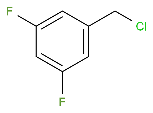 1-(chloromethyl)-3,5-difluorobenzene_分子结构_CAS_220141-71-9