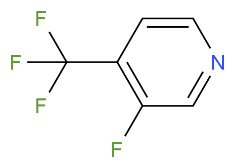 3-Fluoro-4-(trifluoromethyl)pyridine_分子结构_CAS_113770-87-9)