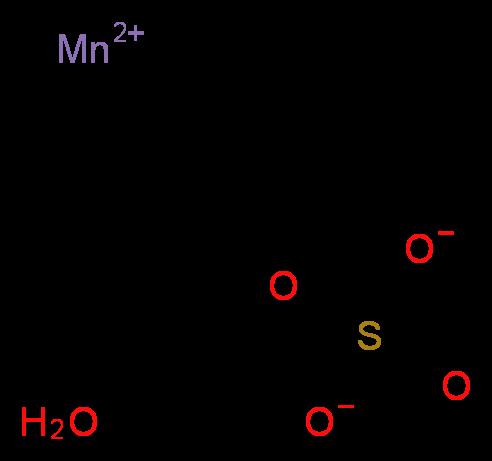 硫酸锰 一水合物_分子结构_cas_10034-96-5)