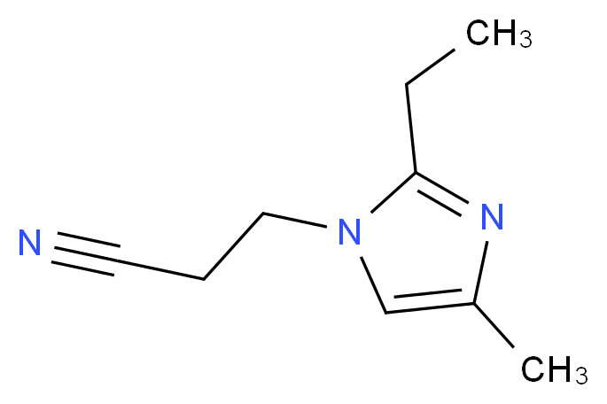 3-(2-ethyl-4-methyl-1H-imidazol-1-yl)propanenitrile_分子结构_CAS_23996-25-0