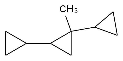 1,2-dicyclopropyl-1-methylcyclopropane_分子结构_CAS_93223-46-2