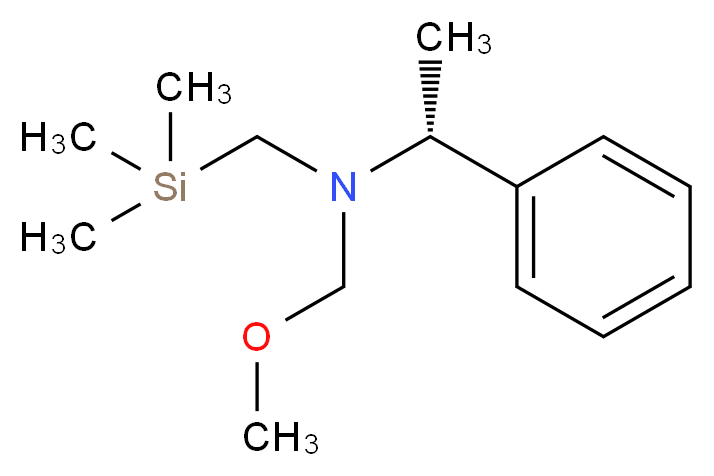 (methoxymethyl)[(1R)-1-phenylethyl][(trimethylsilyl)methyl]amine_分子结构_CAS_133407-38-2