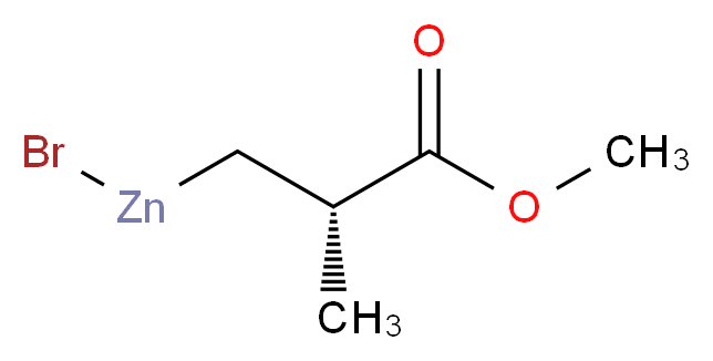 methyl (2S)-3-(bromozincio)-2-methylpropanoate_分子结构_CAS_312693-18-8